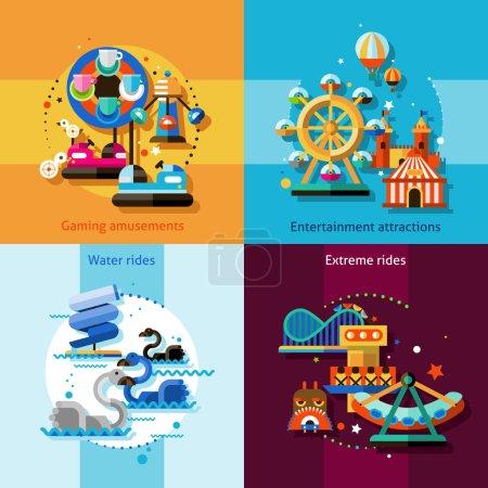 Amusement Design Concept Set