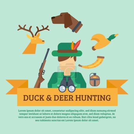 Hunting Concept Illustration