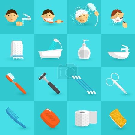 Hygiene Icons Flat