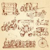 Vintage Transport Sketch