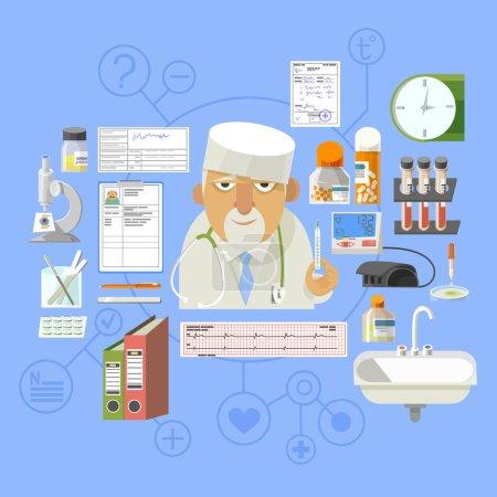 Medical concept banner poster composition