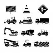 Construction Machines Black