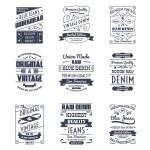 Classical denim jeans typography logo emblems limi...