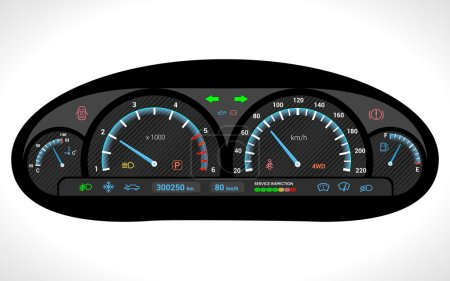 Car Dashboard Isolated