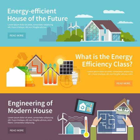 Energy Saving House Banner