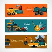Mining Banners Set