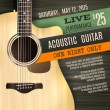 Indie musician concert show poster with acoustic g...