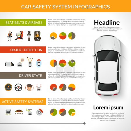 Car Safety System Infographics