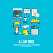 Logistic Icons Flat