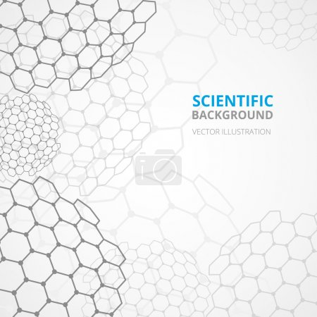 Illustration for Modern scientific hexagonal cell spheres tesselar background pattern template for website titles and announcements abstract vector illustration - Royalty Free Image