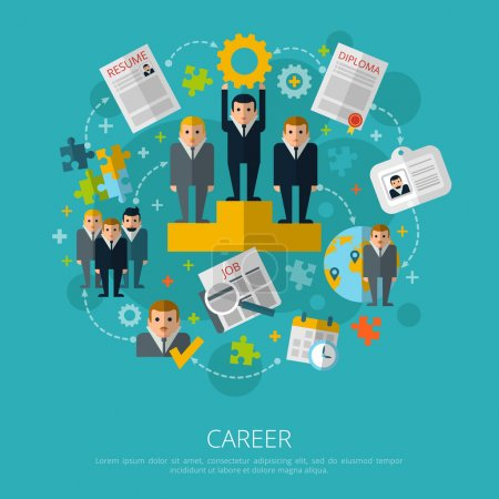 Human resources career concept print