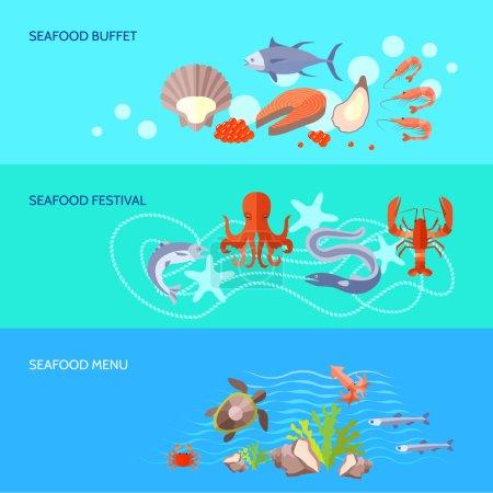 Sea Food Banner Set