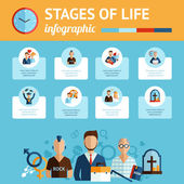 Stages of life infographic report print
