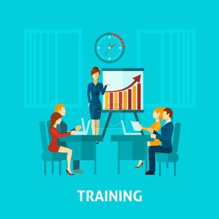 Business Training Flat Icon
