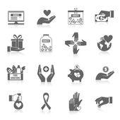 Charitativní ikonu černá sada