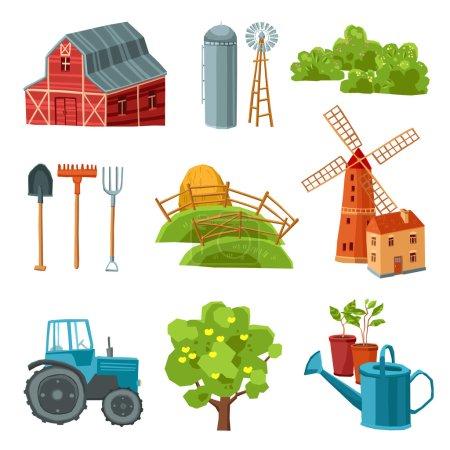 Farm decorative multicolored set