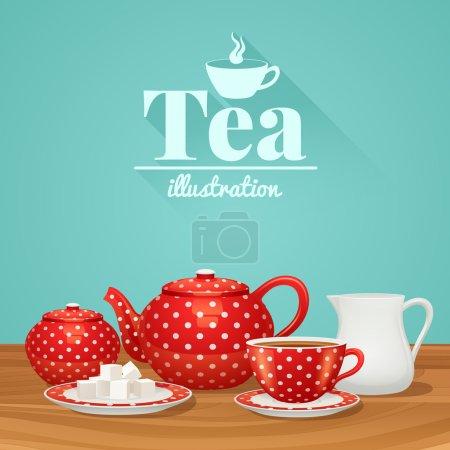 Tea Pottery Illustration