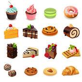 Sütemények ikonok beállítása