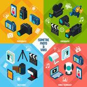 Isometric Photo Video Set