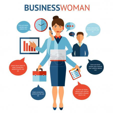 Businesswoman Design Concept