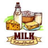 Milk Product Sketch Concept