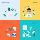 Zubní dekorativní Icon Set