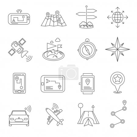 Location Outline Icon Set