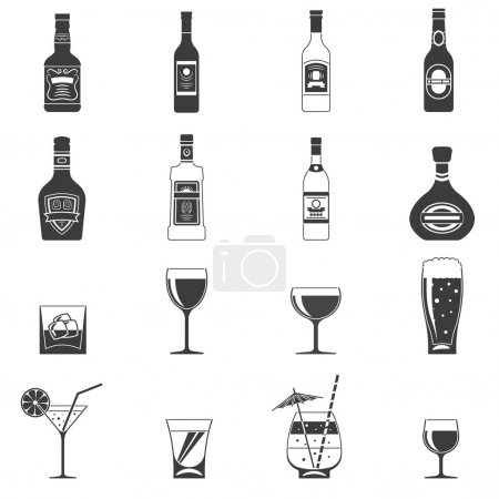 Alcohol Black Icons