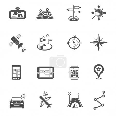 Location Flat Icon Set
