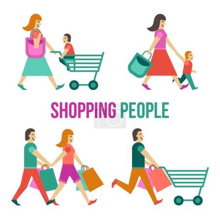 Shopping People Set
