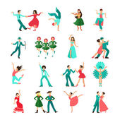 Various style dancing man icons