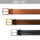 Realistic Belts Set