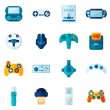 Постер, плакат: Video Game Flat Icons Set