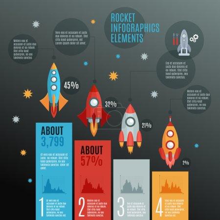 Rockets Infographic Set