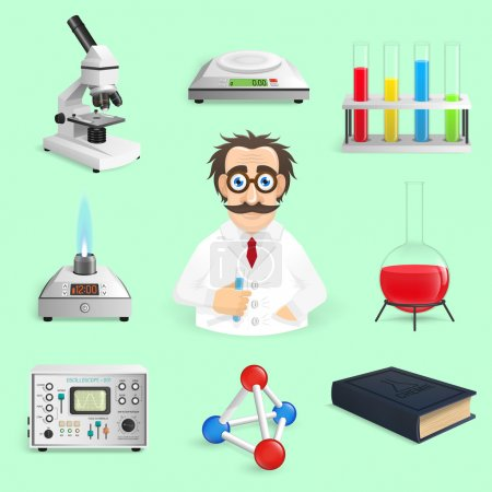 Science Icons Realistic