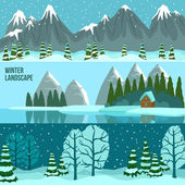 Winter Landscape Panorama Banners