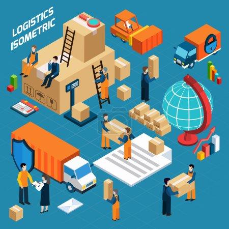 Isometric Warehouse Logistics Concept