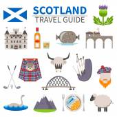 Scotland Travel Icons Set