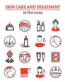 Skin Cosmetics Icons Set