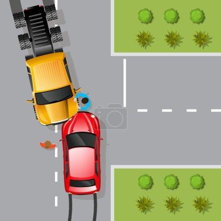 Car Accident Illustration