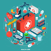 Healthcare concept isometric icon