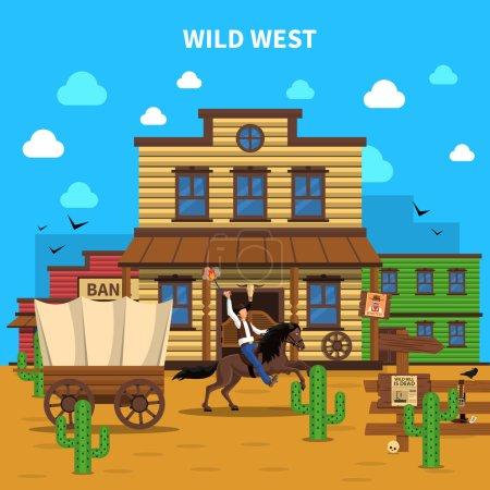 Cowboy Background Illustration