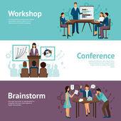 Horizontal Banners Of Business Training