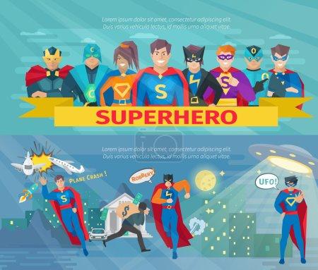 Superhero Team Banners Set