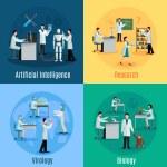 Постер, плакат: Scientists 2x2 Design Concept Set