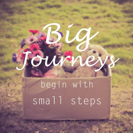 Motivational quote  : BIG JOURNEYS BEGIN WITH SMALL STEPS