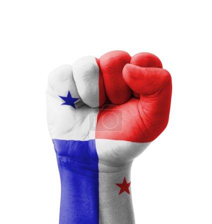 Fist of Panama flag painted, multi purpose concept - isolated on