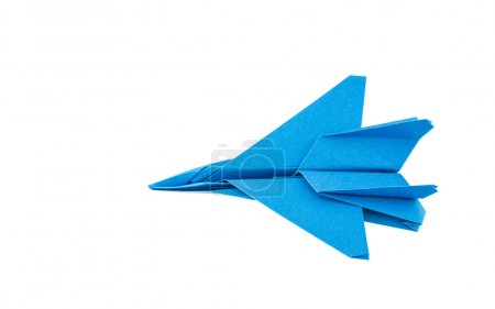 Photo pour Avion de chasse F-15 Eagle origami isolée sur fond blanc - image libre de droit
