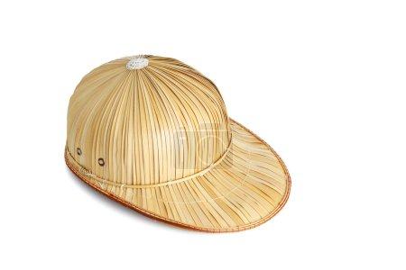 Photo pour Chapeau tissé isolé sur fond blanc - image libre de droit