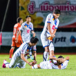 Постер, плакат: SISAKET THAILAND OCTOBER 22: Players of Air Force Central FC in